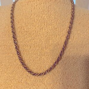 Vintage MONET Gold/Silver twisted chain necklace.